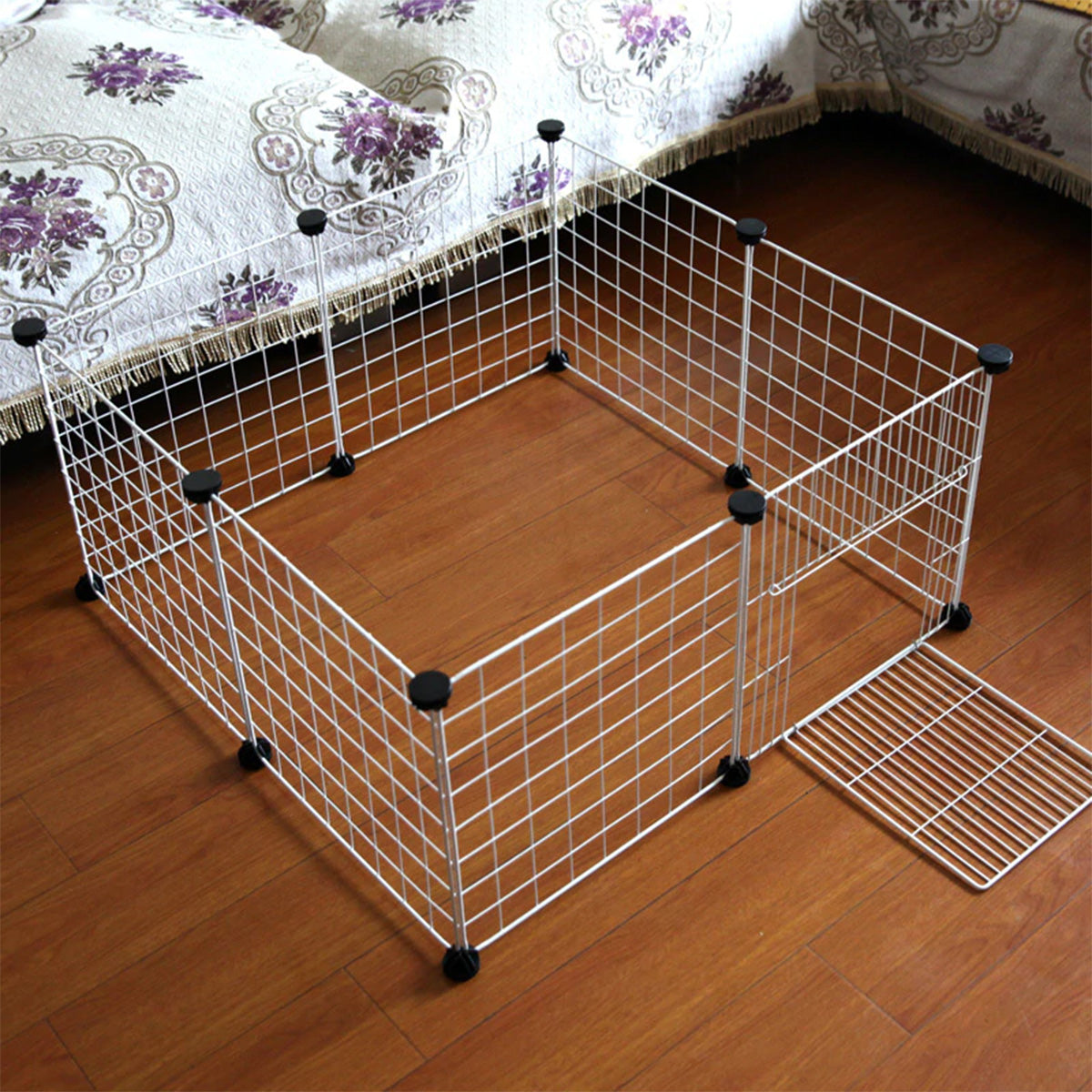 Folding Dog Cage With IRON Fence