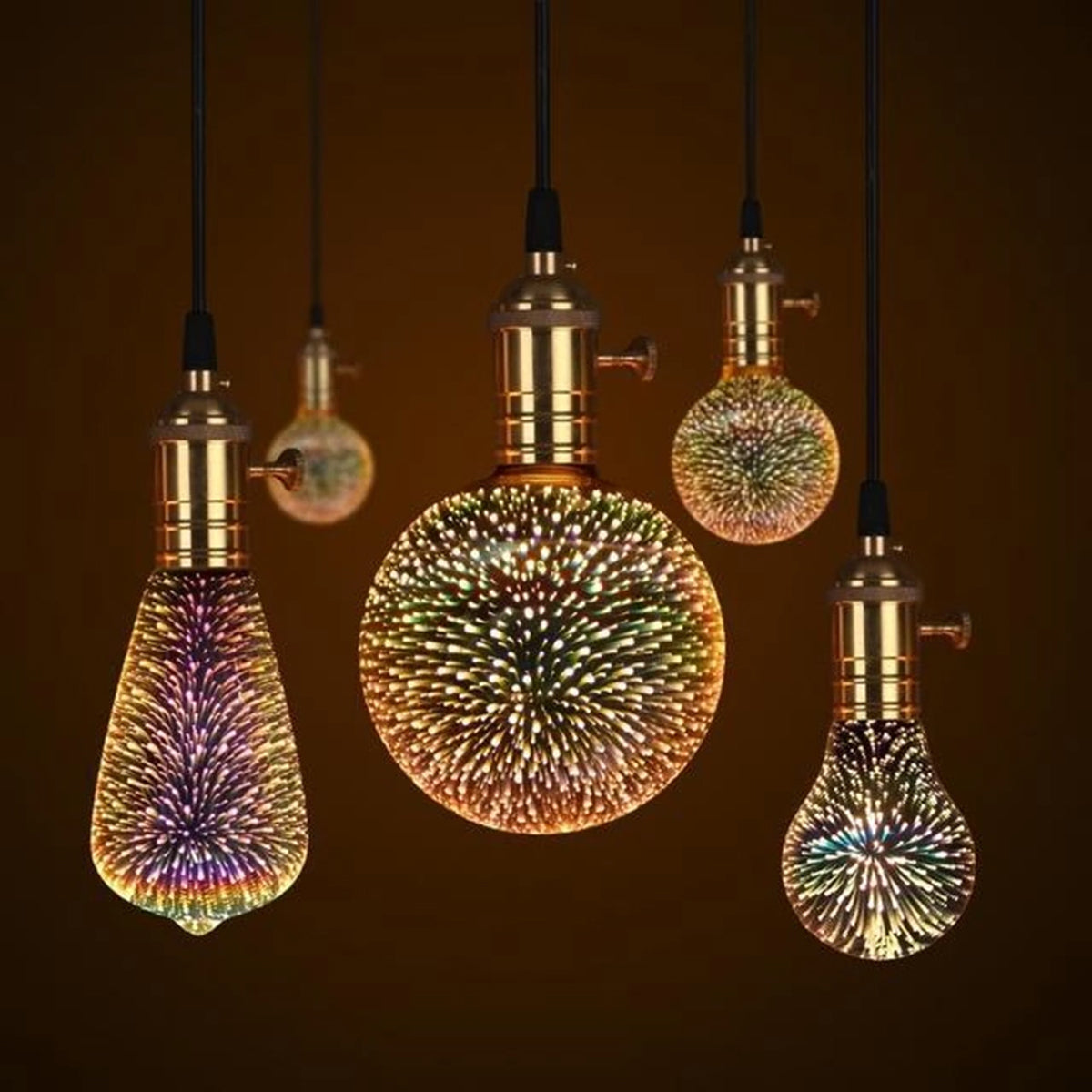 3D LED Galaxy Light Bulb