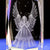 3D Laser Crystal Angel Figurines