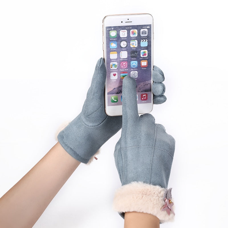 Warm Cashmere Touch Screen Driving Gloves