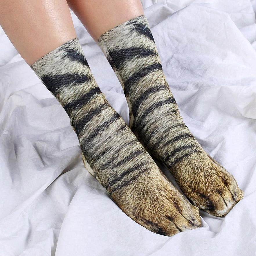 3d Unisex Animal Paws Socks