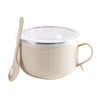 Stylish Cable Knit Bowl with Lid