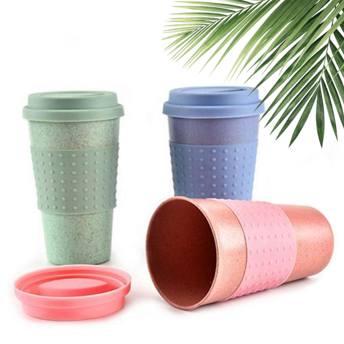 Reusable Coffee Cup with Straw