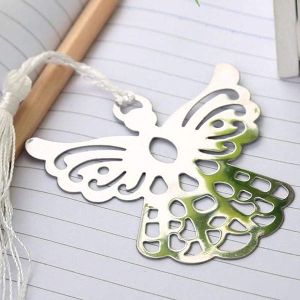 1 Pcs Guardian Silver Alloy Angel Bookmark