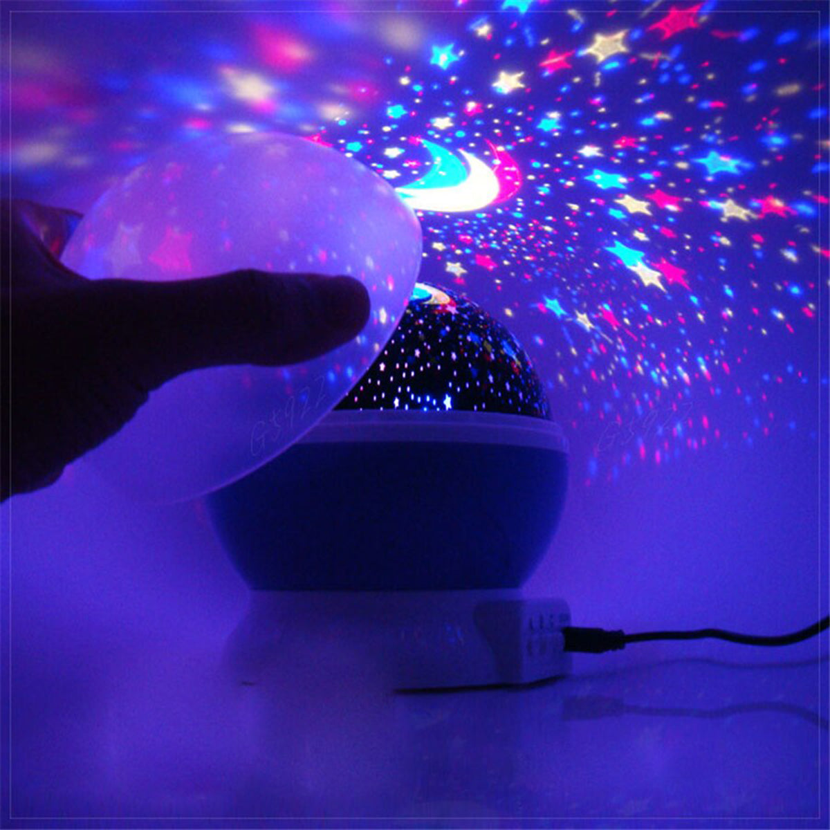 Starry Sky Toddler Night Light Projector with Music