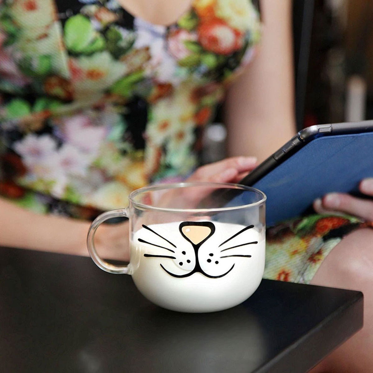 Cute Cat Transparent Kitty Coffee Mug