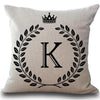 Crown Letter Personalized Pillow Cases