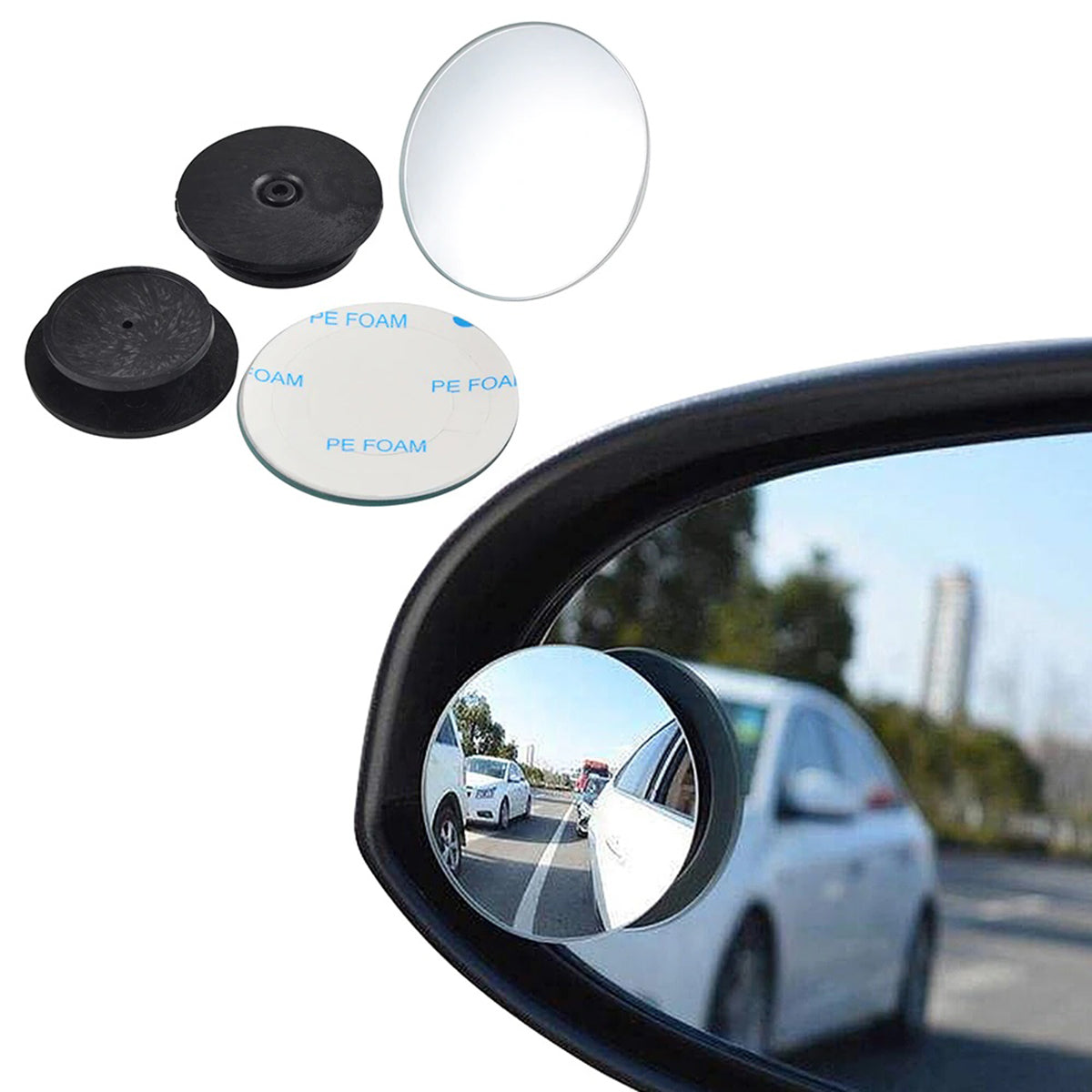 frameless blind spot mirror