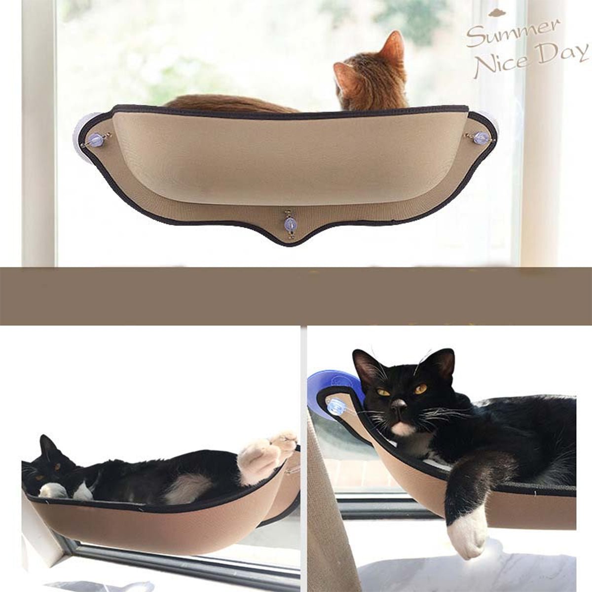 Removable Mounted Cat Window Hammock