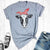 Womens' Graphic Cow T Shirts