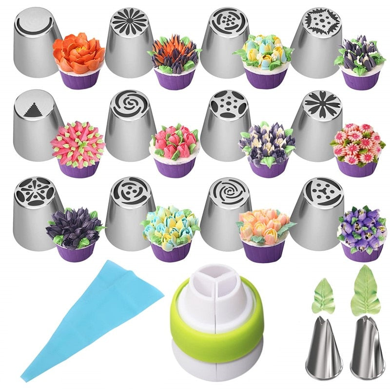Stainless Steel Flower Shaped Frosting Nozzles