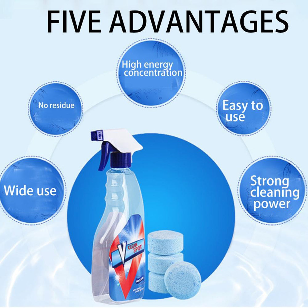 Multifunctional Effervescent Tablets Spray Cleaner Set