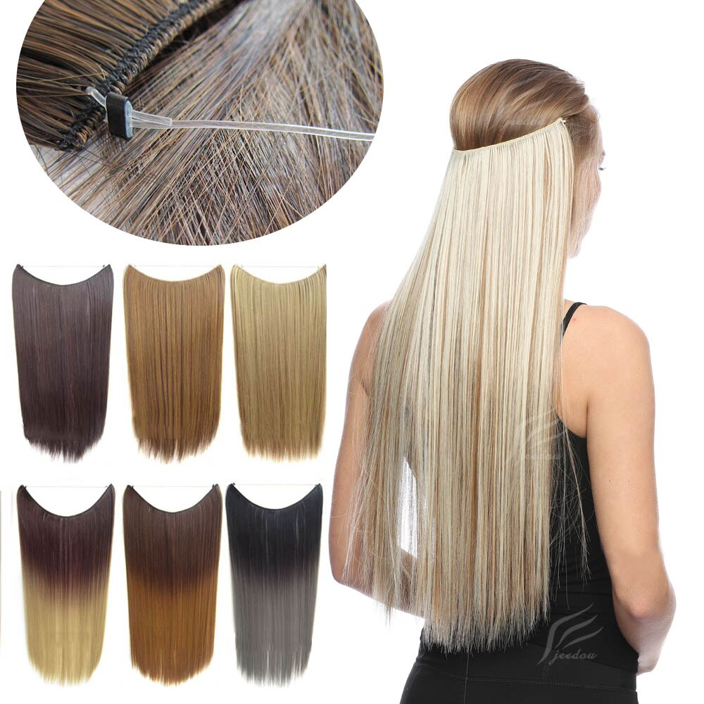 Comfortable Invisible Wire Synthetic Hair Extensions