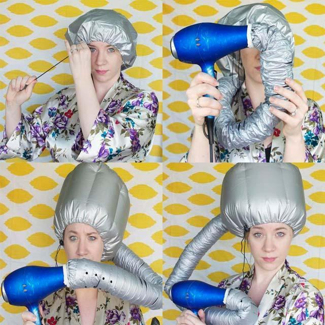 Quick and Easy Portable Hair Dryer Cap