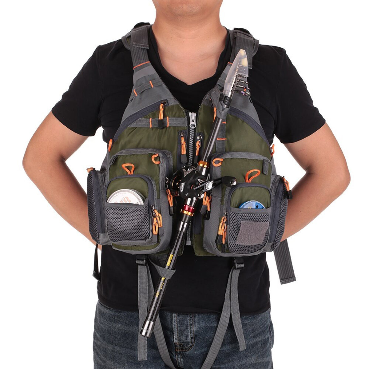 Men's Breathable Fishing PFD Survival Utility