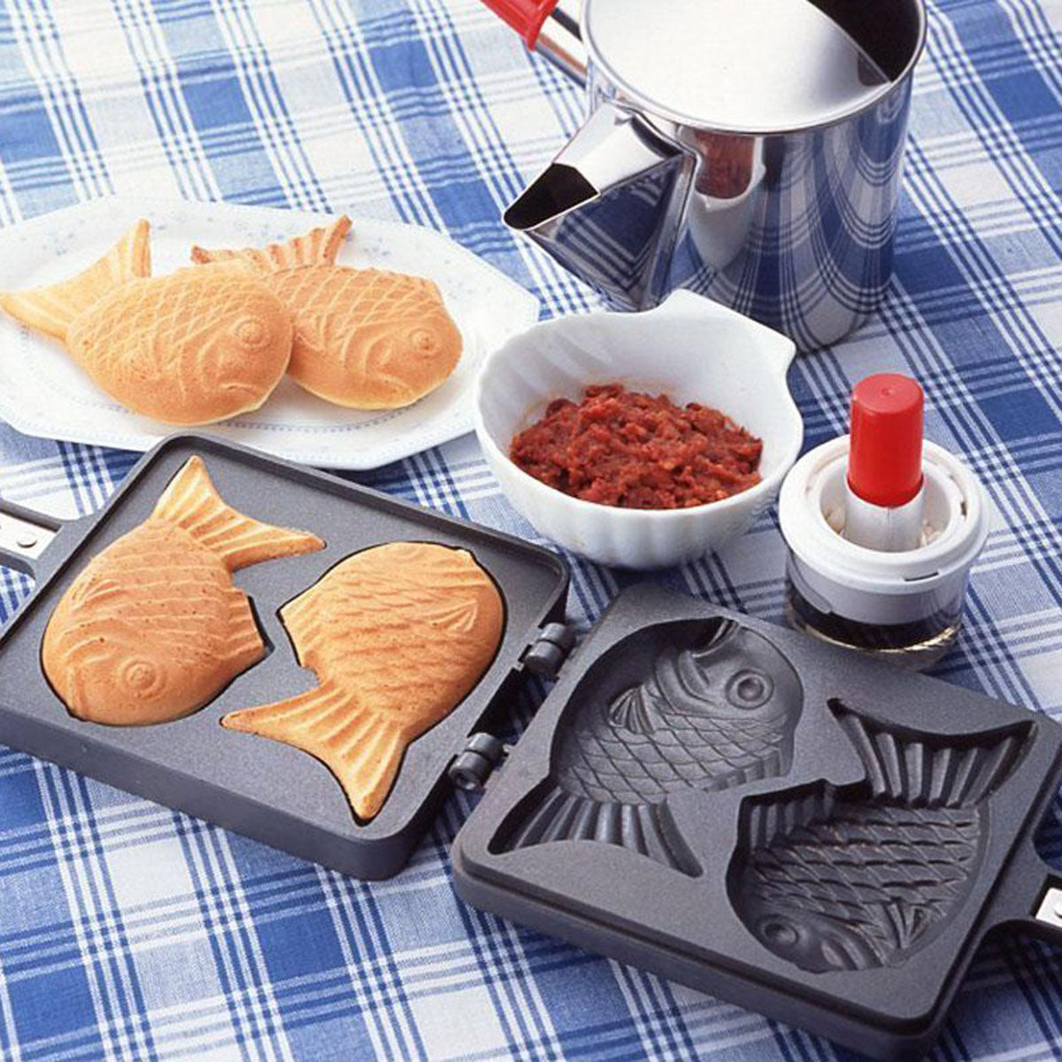 Japanese Fish-Shaped Taiyaki Pan