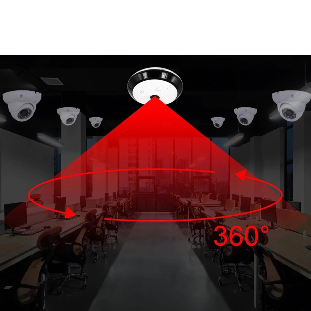 360 Degree Panoramic Security Camera With Wifi