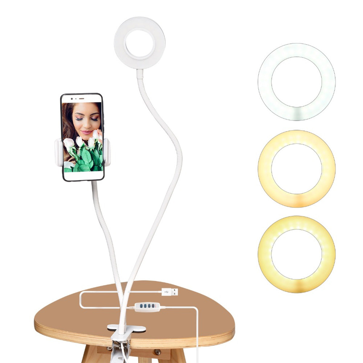 Selfie Ring Light for iPhone with Mobile Holder