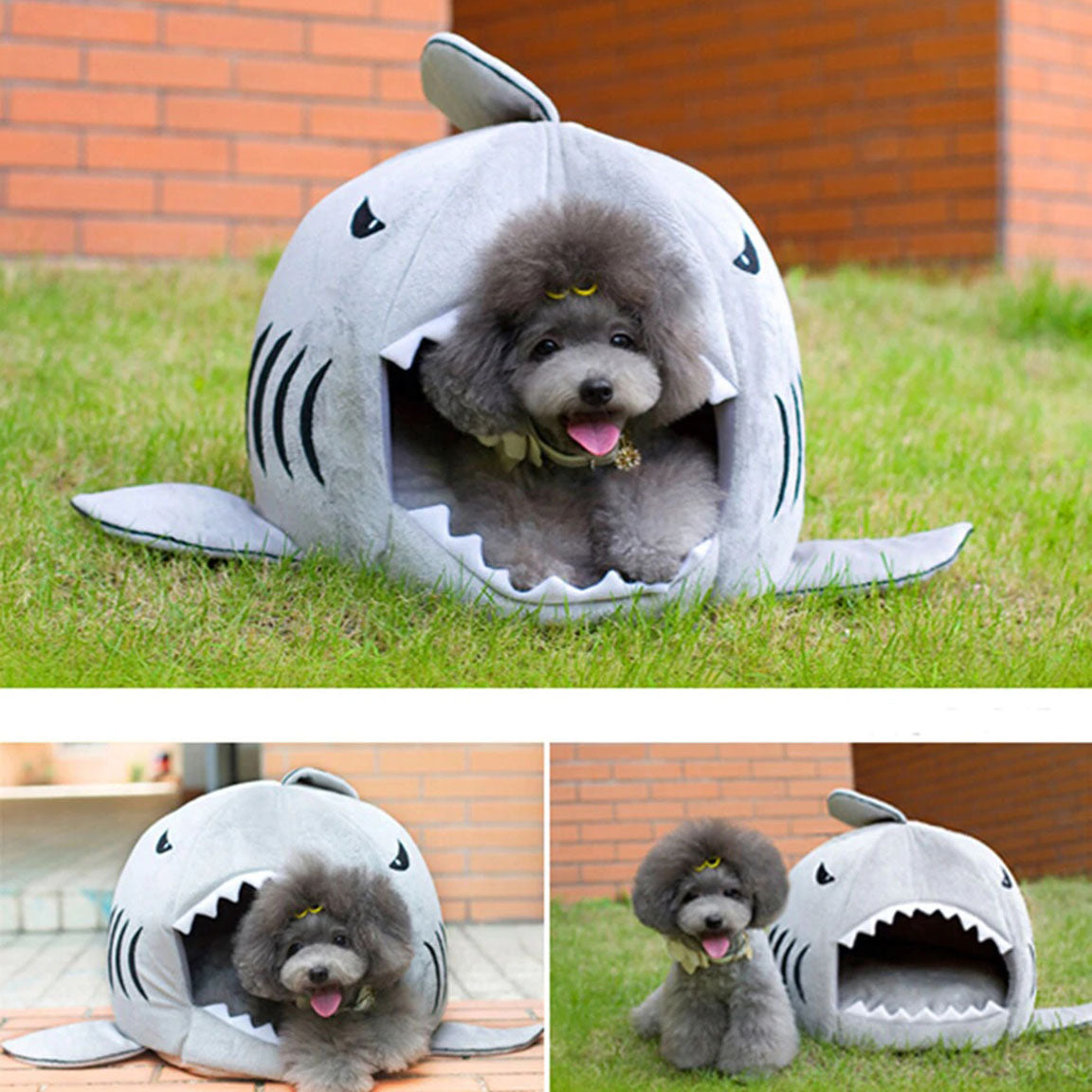 Washable Warm Shark Pet Bed