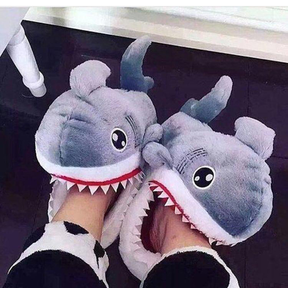 Cotton Warm Indoor Shark Slippers