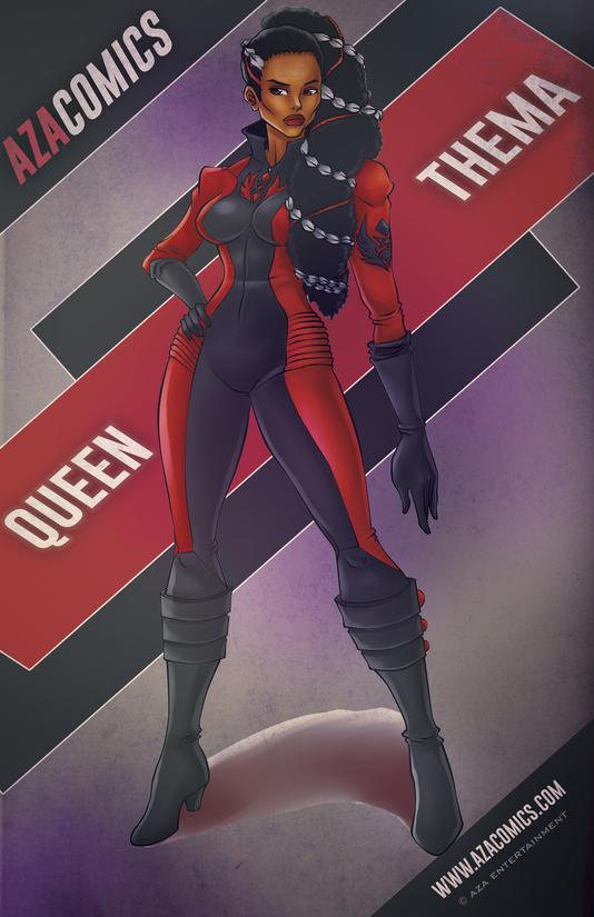 Aza Comics Queen Thema Superhero Poster