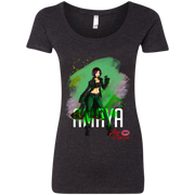 Aza Comics Amaya Ladies Scoop-neck Superhero Tee