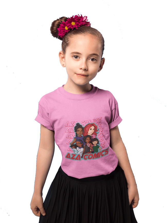 Aza Comics Aza Mini's Girls Superhero Tee