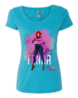 Aza Comics Fenna Ladies Scoop-Neck Tee
