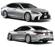 Load image into Gallery viewer, TOM'S Racing- Aero Package (3pc.Kit- Front Diffuser, Side Diffuser, Rear Bumper Diffuser for 2018+ Lexus LS500 (FRP-Unpainted)