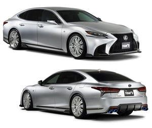 TOM'S Racing- Aero Package (3pc.Kit- Front Diffuser, Side Diffuser, Rear Bumper Diffuser for 2018+ Lexus LS500 (FRP-Unpainted)
