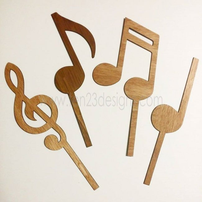 Music Notes Centerpiece Sticks