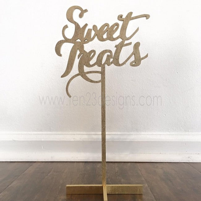 Sweet Treats Wooden Table Sign
