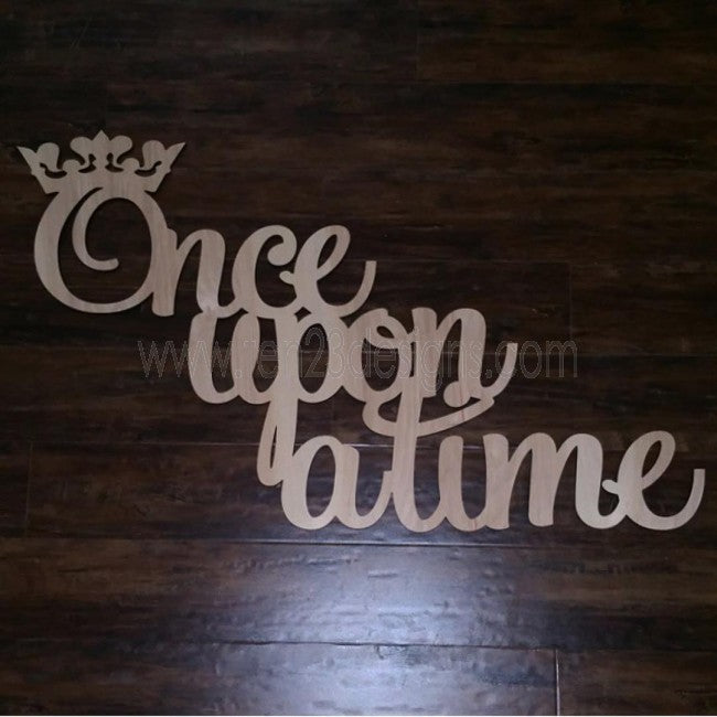 Once Upon a Time Wooden Sign