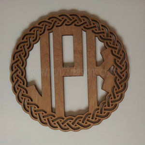 Celtic Ring Wooden Monogram