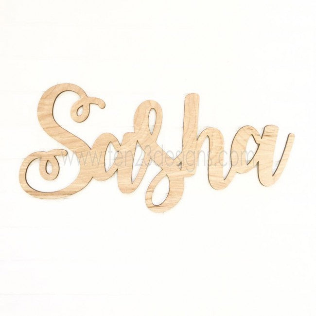 Personalized Wooden Name - Generation IV - Sasha