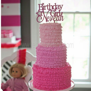 Personalized Birthday Girl Cake Topper