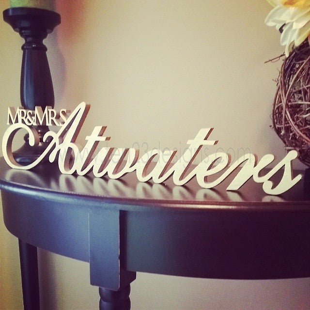 Personalized Free Standing Wooden Name