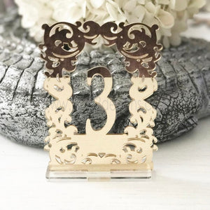 Wilkshire Free Standing Wedding Table Numbers