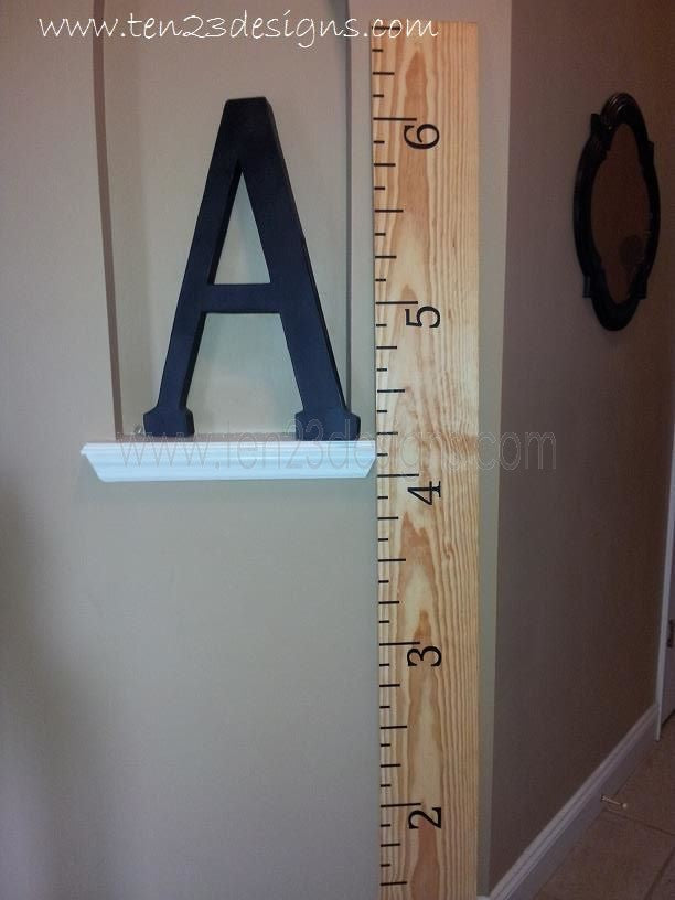 Oversized Ruler Decal for DIY Growth Chart - Vinyl Lettering for 6 foot chart - Personalization Option