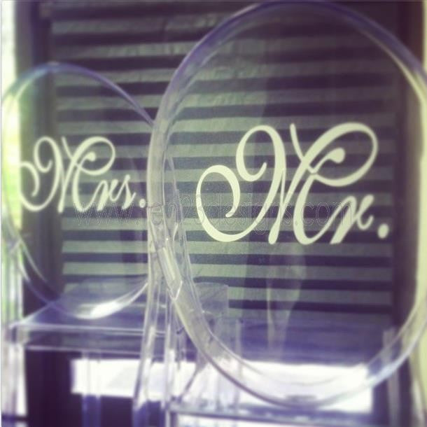 Mr. and Mrs. Ghost Chair Decals