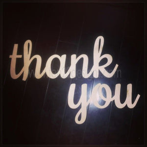 Wooden Thank You Sign