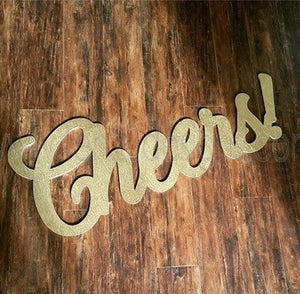 Cheers Wooden Sign