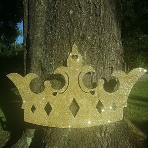 Laser Cut Wooden Royal Tiara Crown
