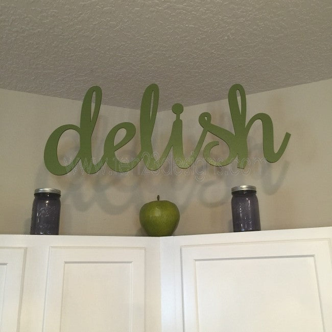 Delish Wooden Sign