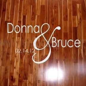Large Personalized Wedding Monogram Dance Floor Decal