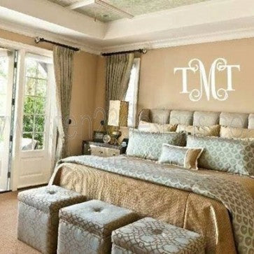 Large Fancy Meets Formal Monogram Wall Decal
