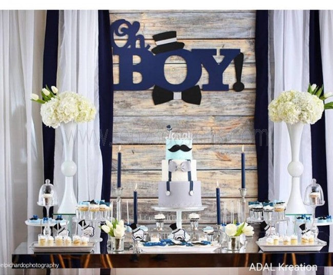 Oh Boy! Wooden Backdrop Sign