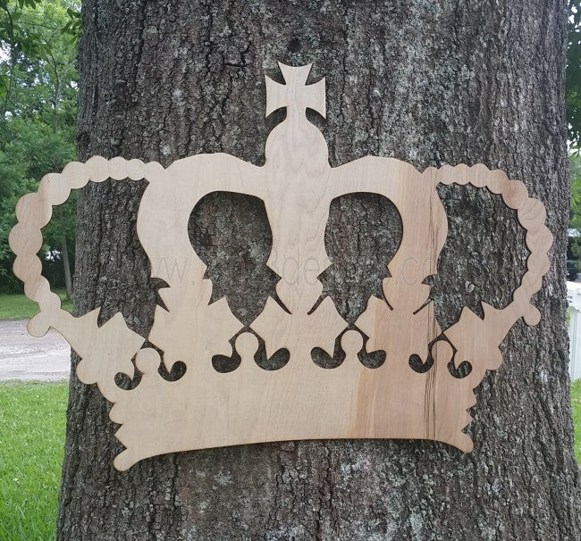 Laser Cut Wooden Royal Crown Backdrop Sign