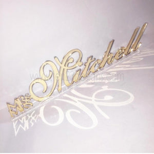 Mirror Acrylic Personalized Free Standing Name
