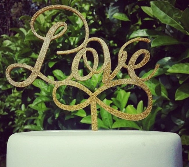 Acrylic Love Infinity Wedding Cake Topper